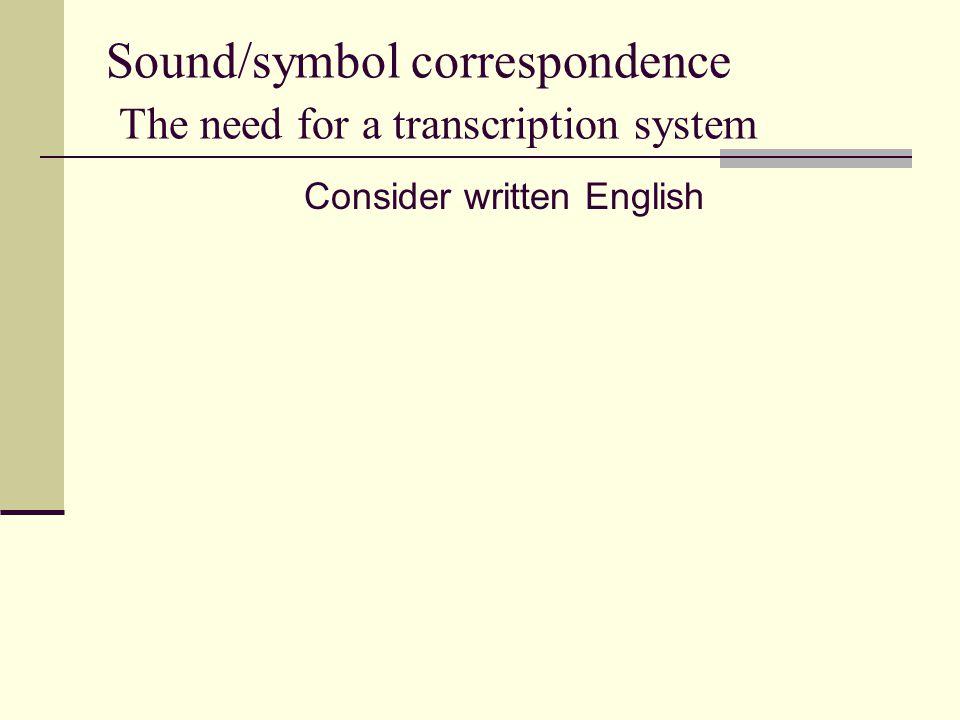 Consider written English