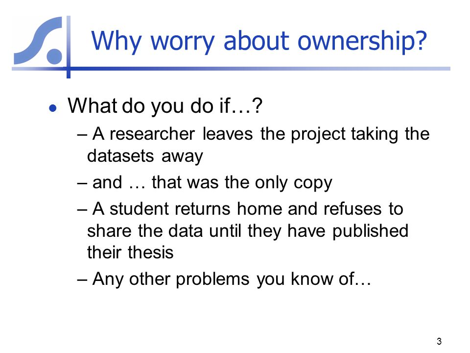 Who owns 'your' data.