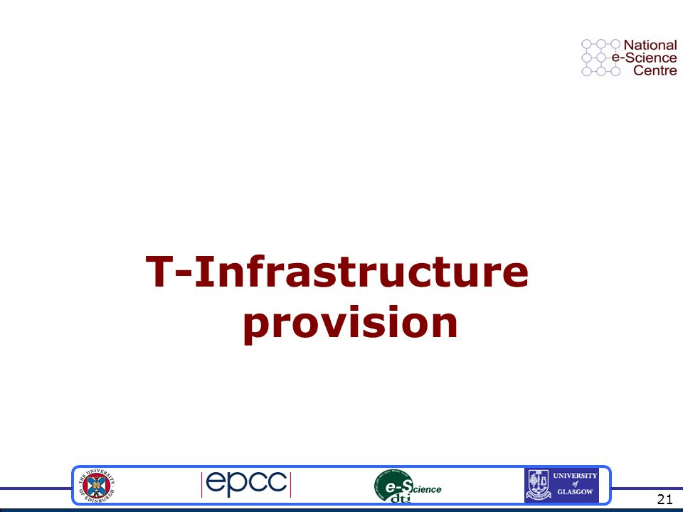 21 T-Infrastructure provision
