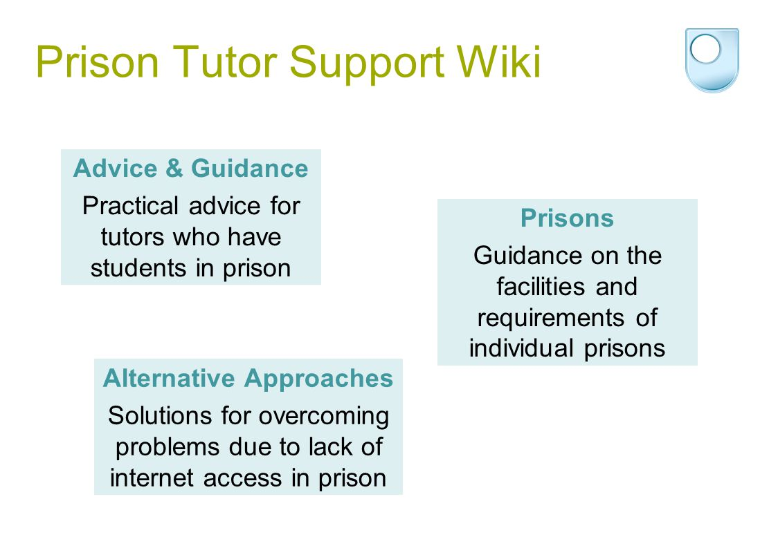Prison Tutor Support Wiki Alternative Approaches Solutions for overcoming problems due to lack of internet access in prison Advice & Guidance Practica