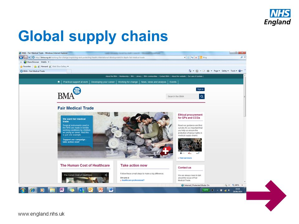 www.england.nhs.uk Global supply chains