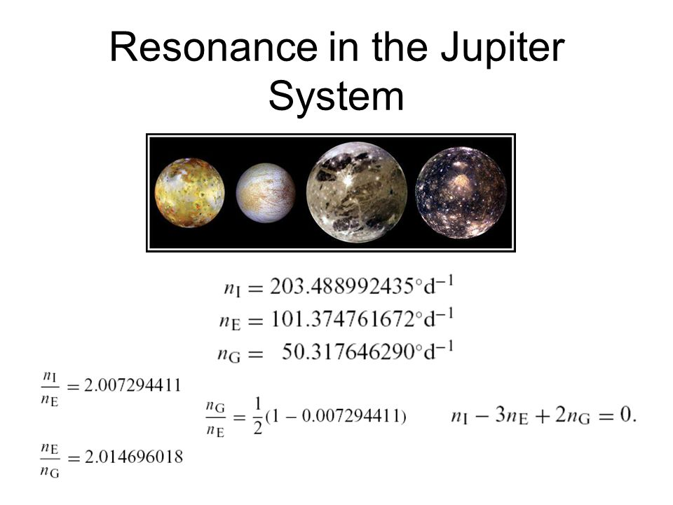 Resonance in the Jupiter System