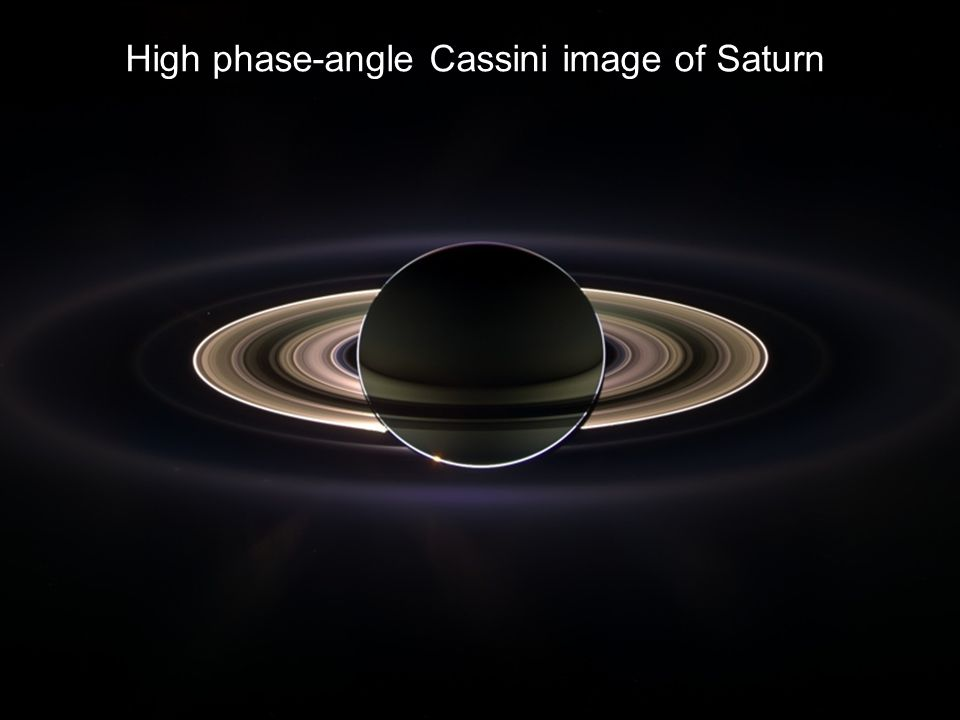 High phase-angle Cassini image of Saturn
