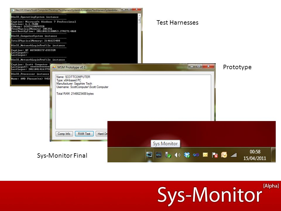 Test Harnesses Sys-Monitor Final Prototype