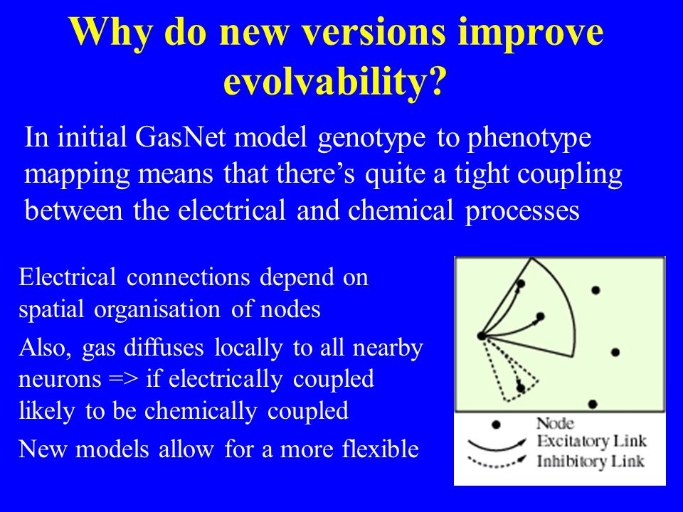 Why do new versions improve evolvability.