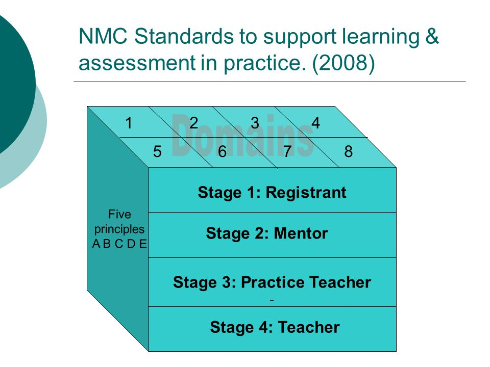 NMC Standards to support learning & assessment in practice.
