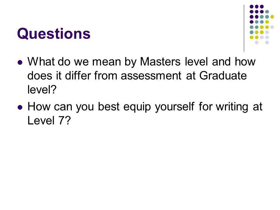 What is Masterliness (level 7)? Handbook FHEQ guidance page 38 SEEC guidancepage 40