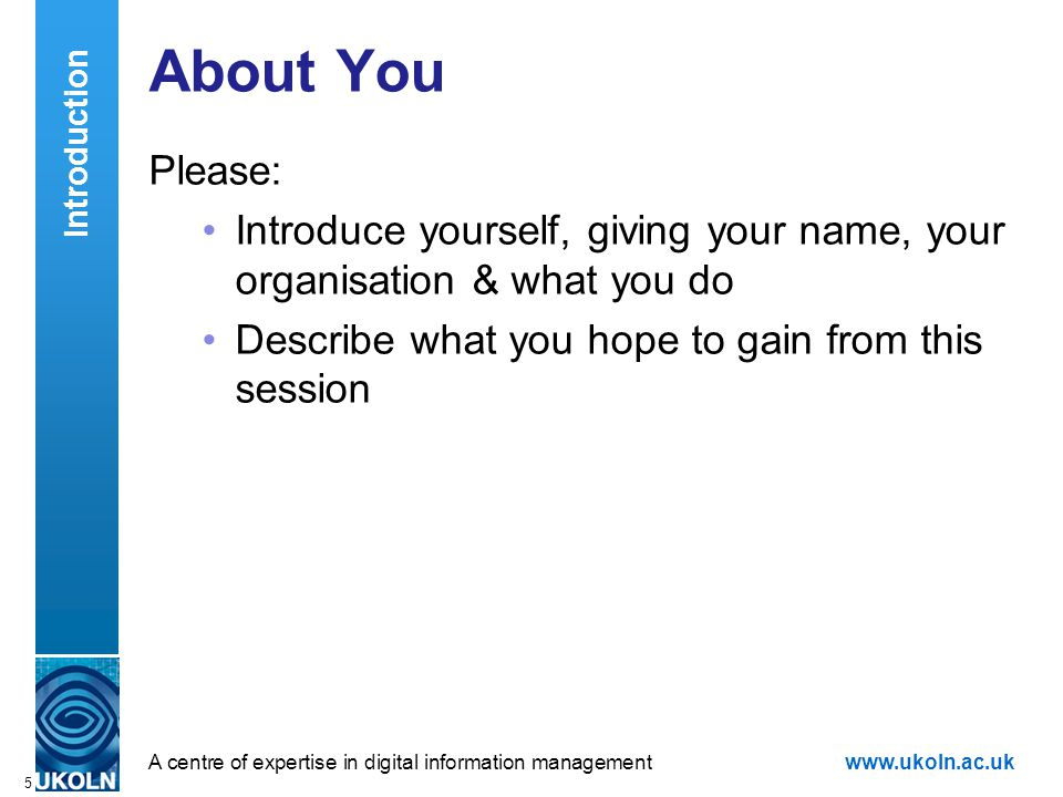 A centre of expertise in digital information managementwww.ukoln.ac.uk 6 The Hype