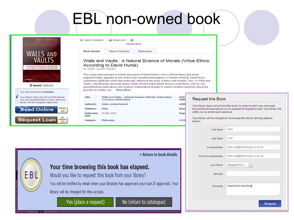 EBL non-owned book