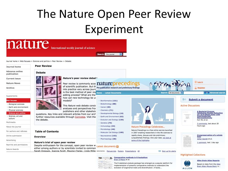 The Nature Open Peer Review Experiment