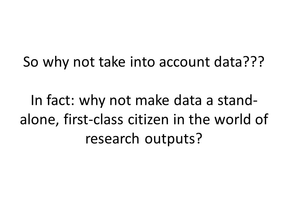 So why not take into account data??.