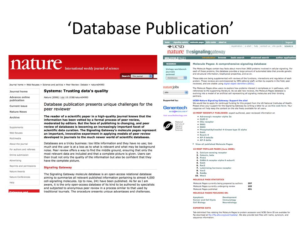 'Database Publication'