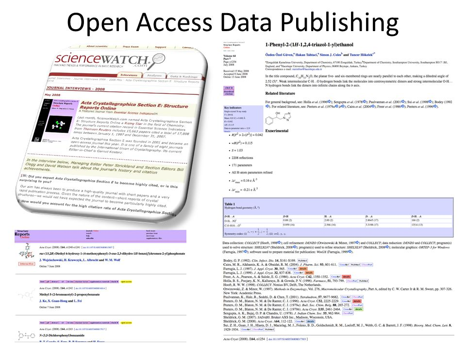 Open Access Data Publishing