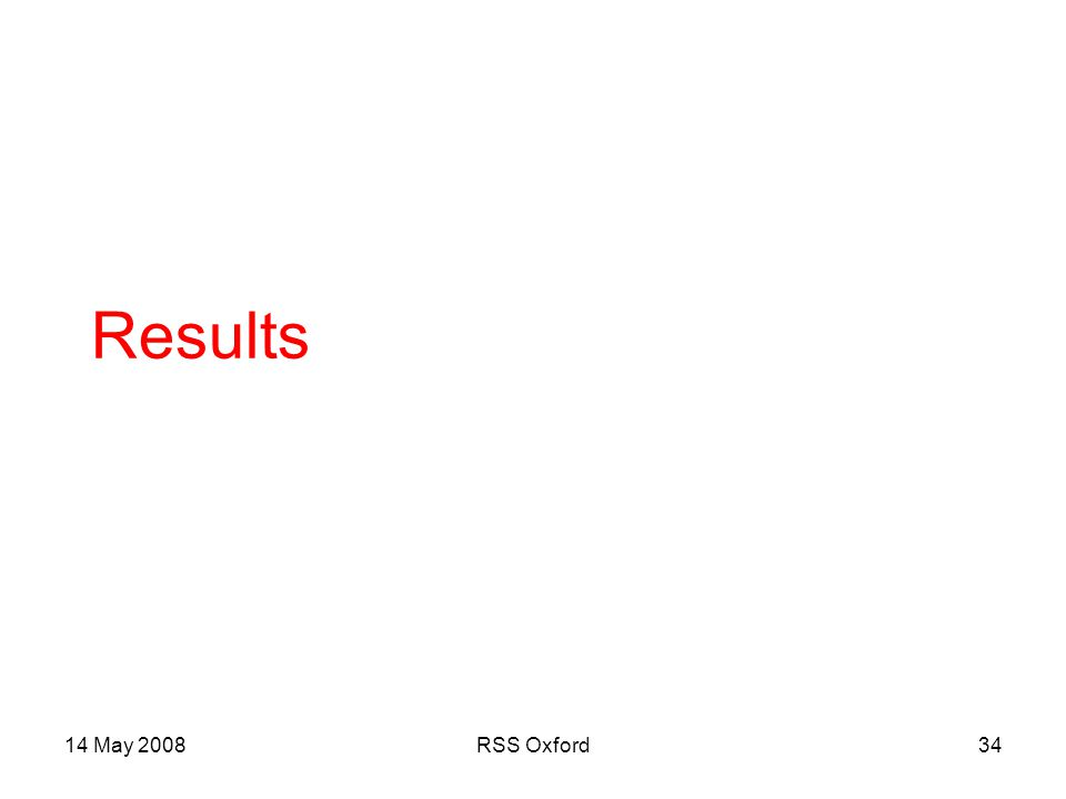 14 May 2008RSS Oxford34 Results