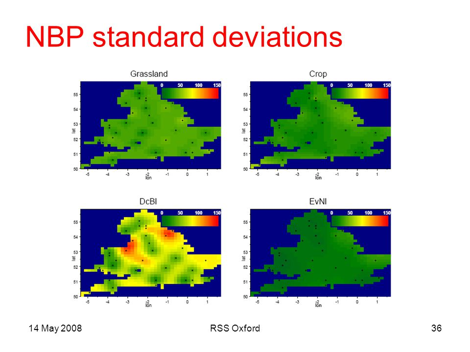 14 May 2008RSS Oxford36 NBP standard deviations