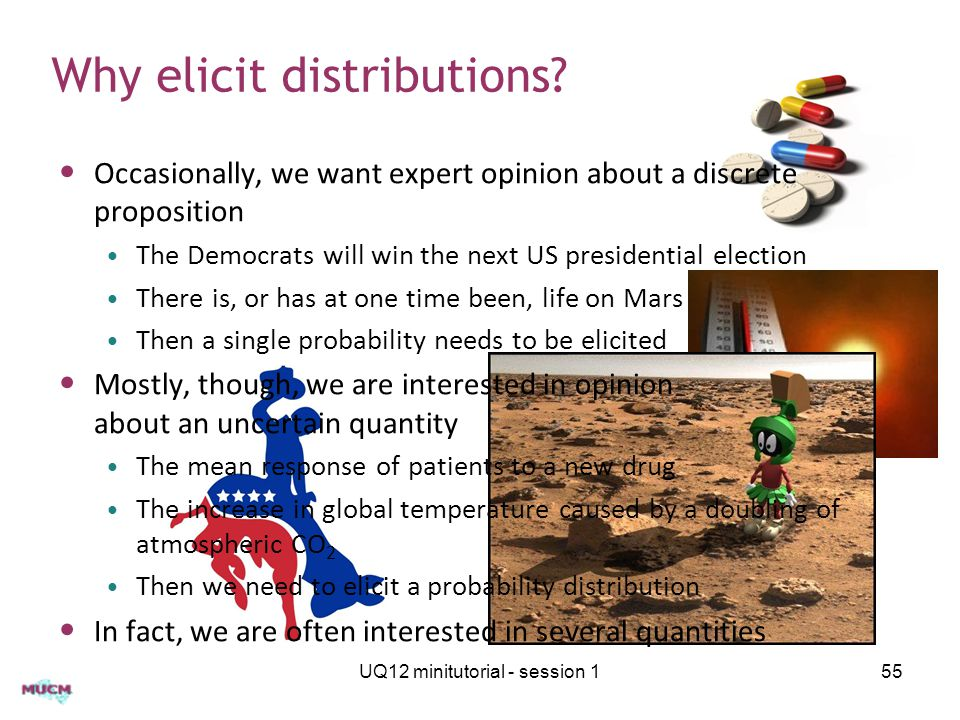 Why elicit distributions.