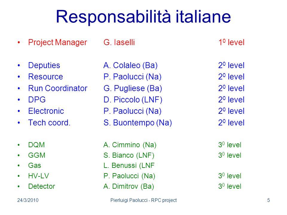 Responsabilità italiane Project ManagerG. Iaselli1 0 level DeputiesA.