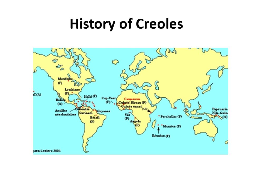 History of Creoles