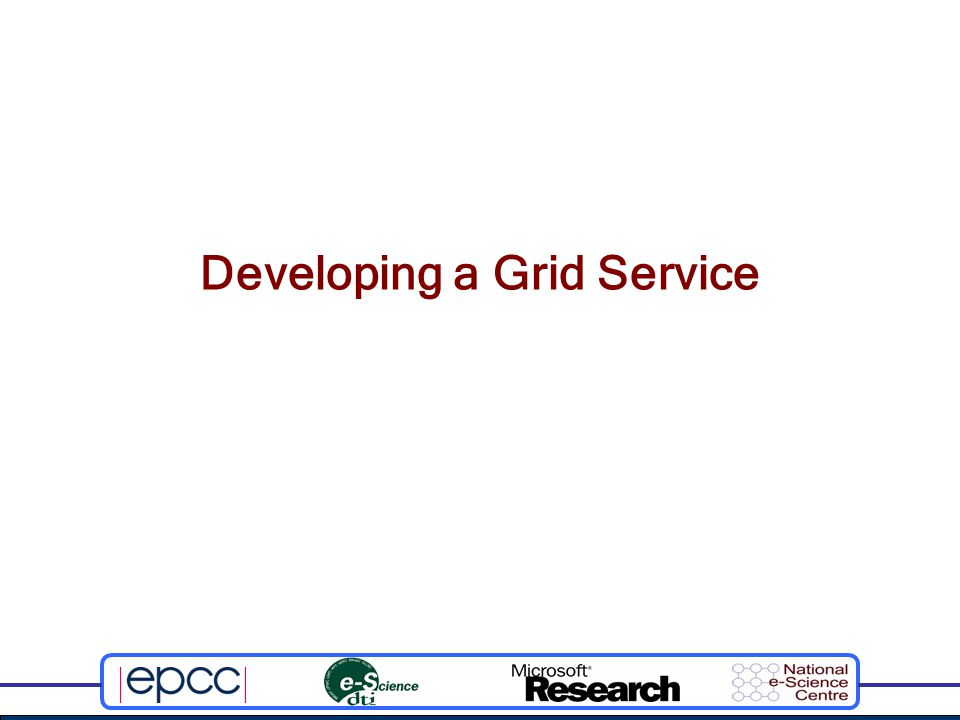 Developing a Grid Service