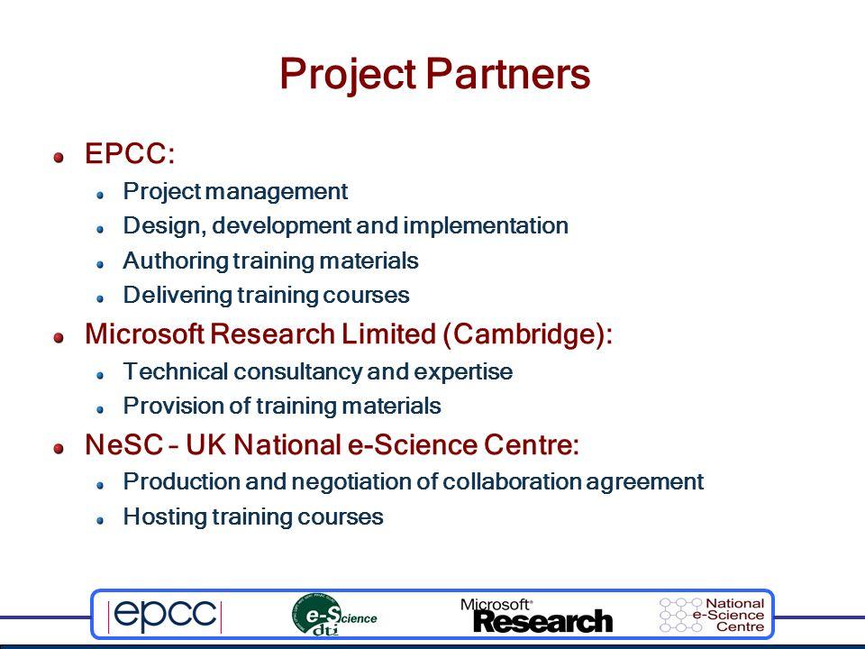 Project Activities Microsoft.NET OGSI OGSA- DAI e-Science Application OGSI and Microsoft.NET Course … … … OGSI and Microsoft.NET Course … … … OGSI and Microsoft.NET Course … … … OGSI and Microsoft.NET Course … … …