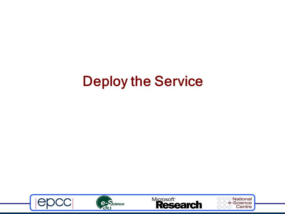 Deploy the Service