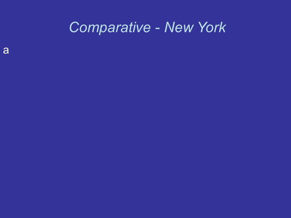 a Comparative - New York