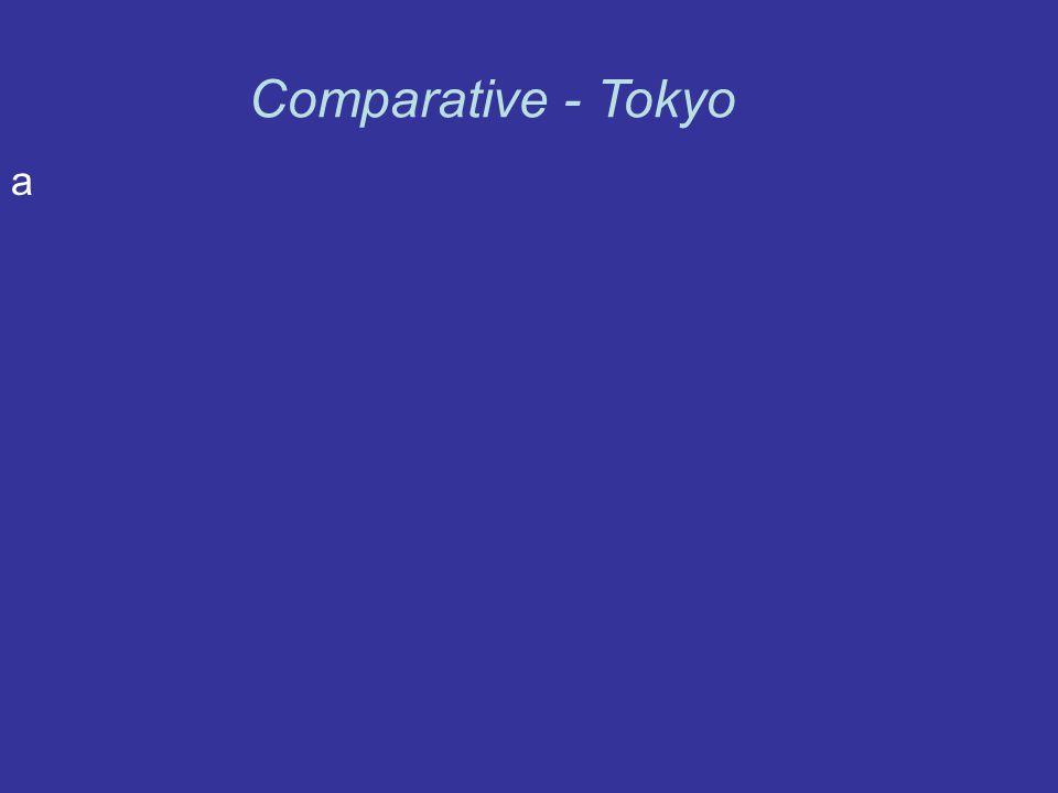 a Comparative - Tokyo