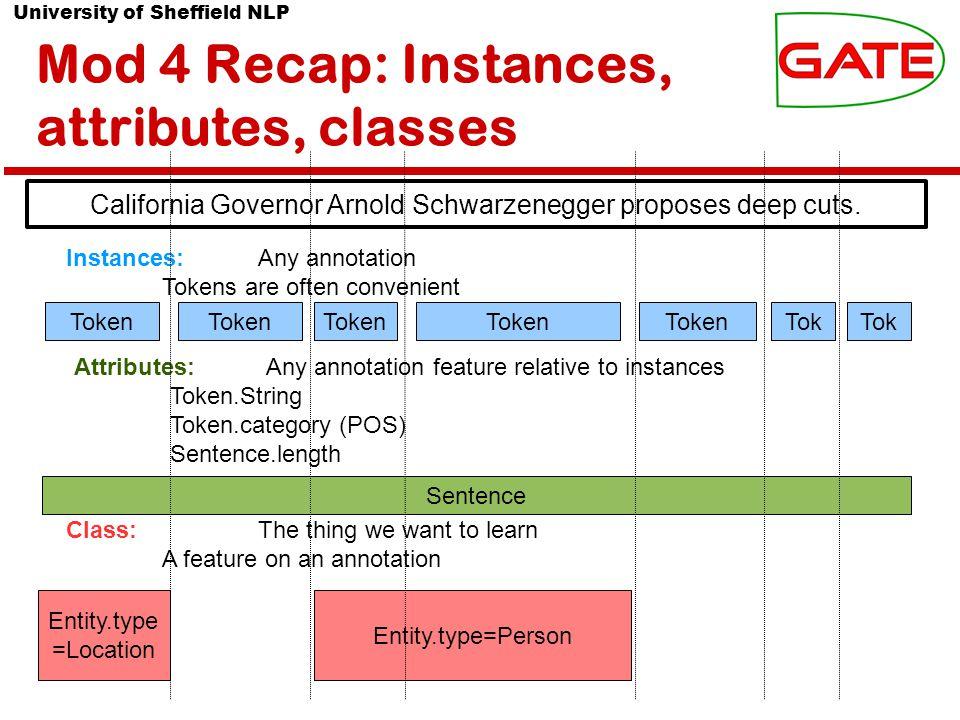 University of Sheffield NLP Mod 4 Recap: Batch Learning PR Settings