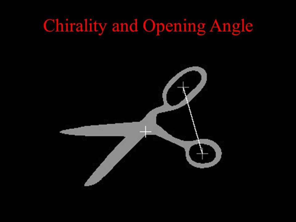 Chirality and Opening Angle