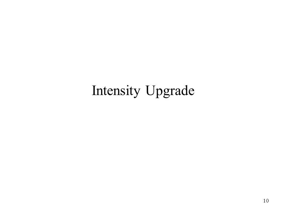10 Intensity Upgrade