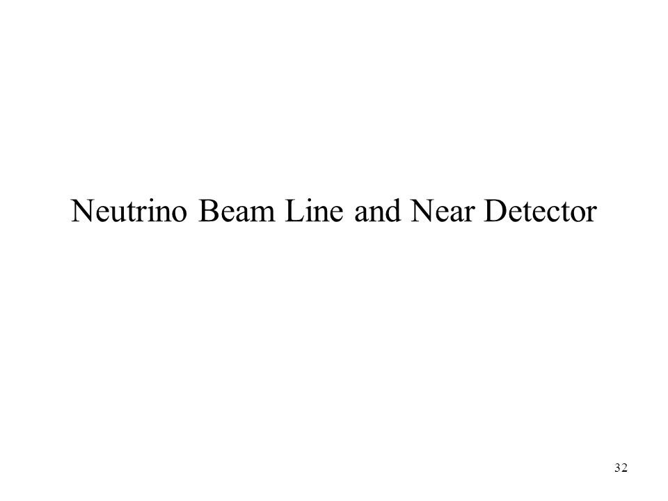 32 Neutrino Beam Line and Near Detector