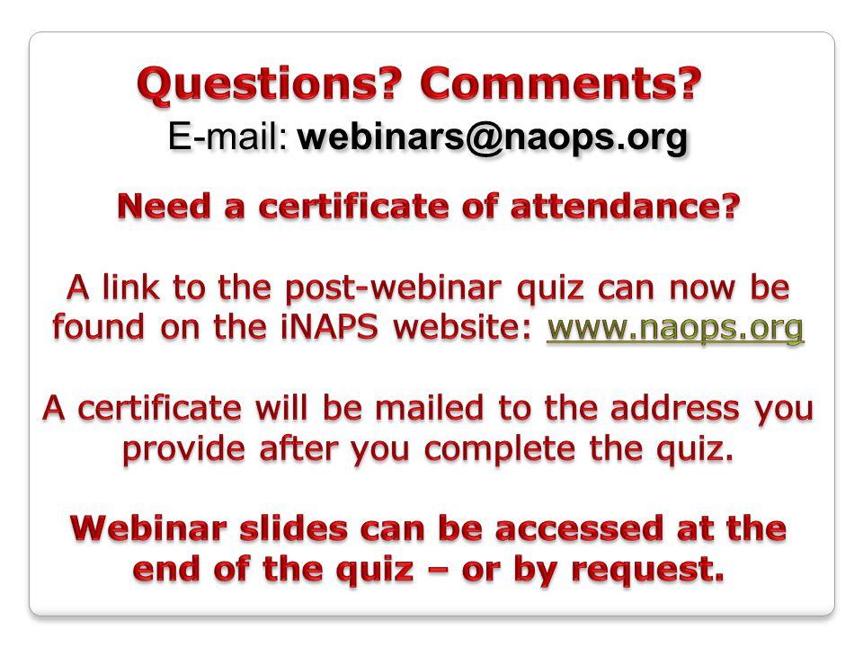 E-mail: webinars@naops.org