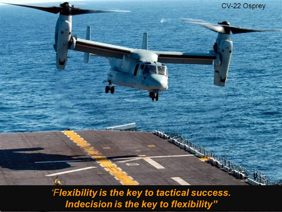 CV-22 Osprey 'Flexibility is the key to tactical success.