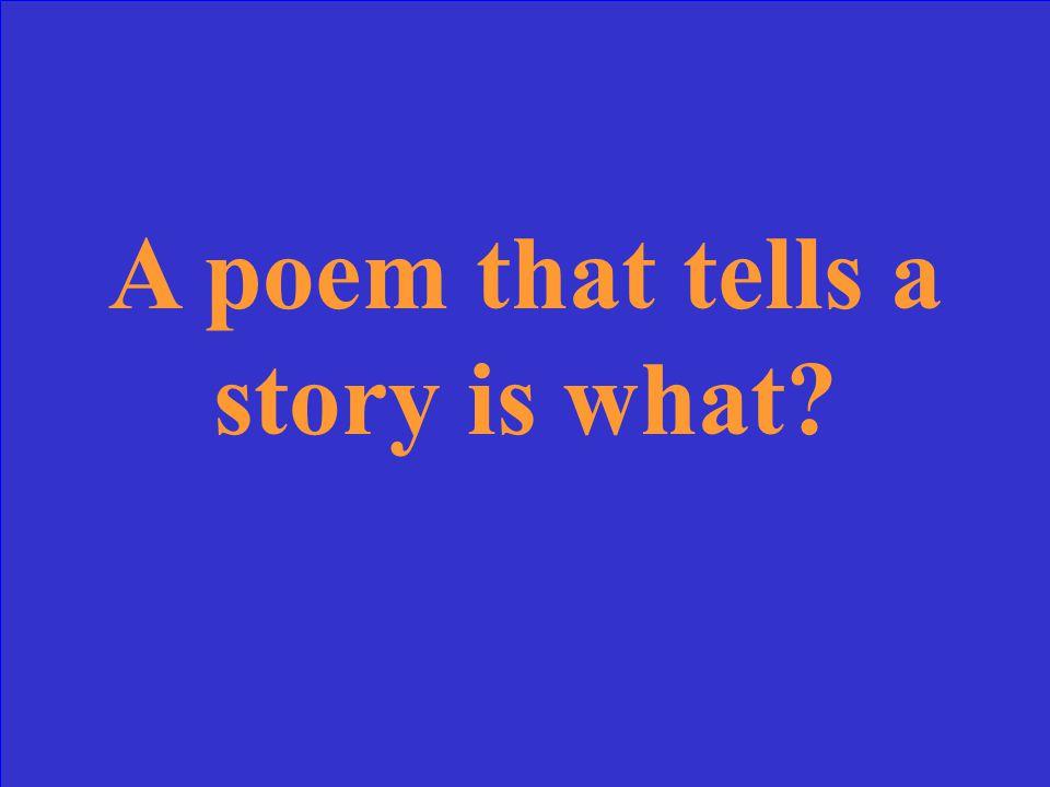 Rhyme Scheme 40 pts