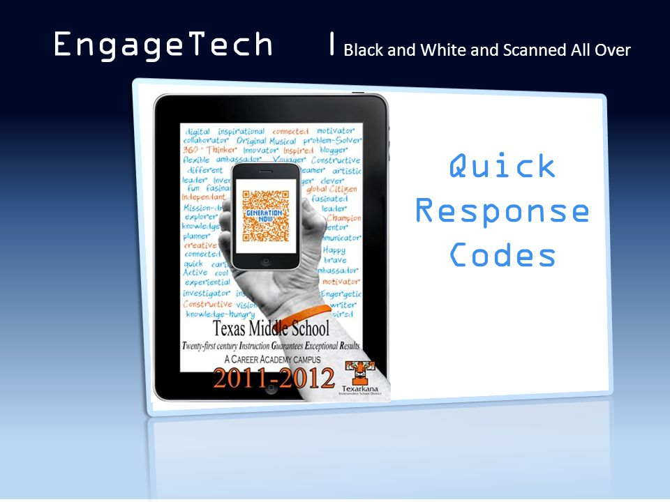 QR Codes EngageTech | Black and White and Scanned All Over Quick Response Codes