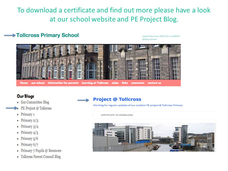 To download a certificate and find out more please have a look at our school website and PE Project Blog.