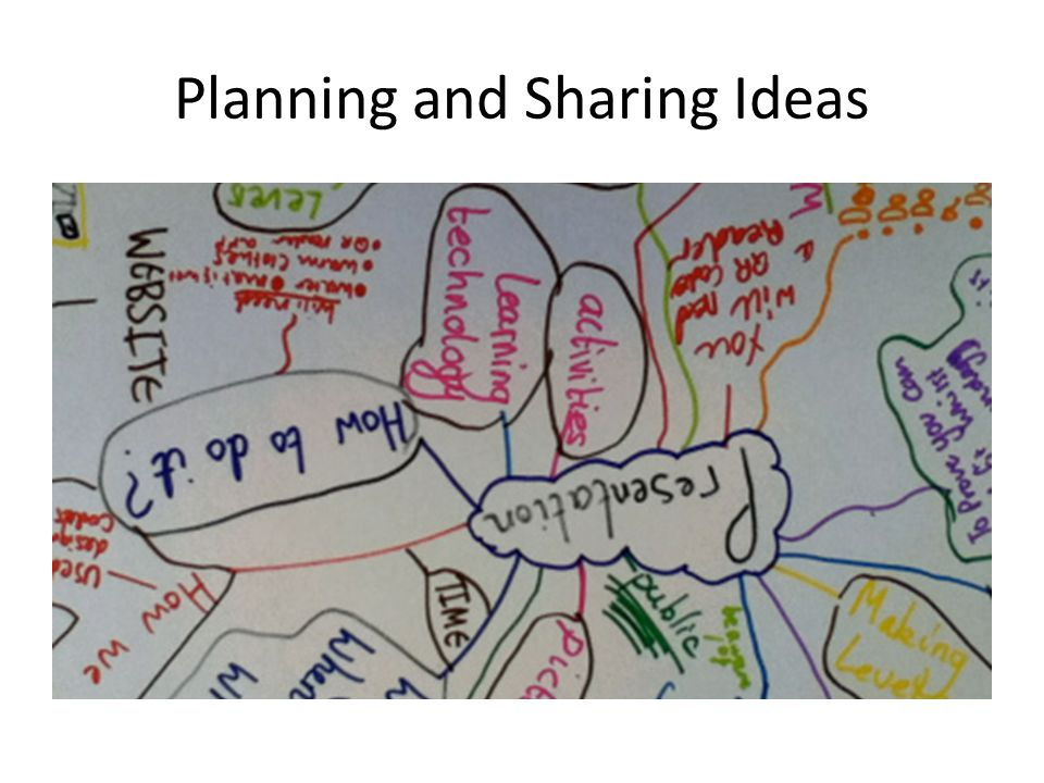 Planning and Sharing Ideas
