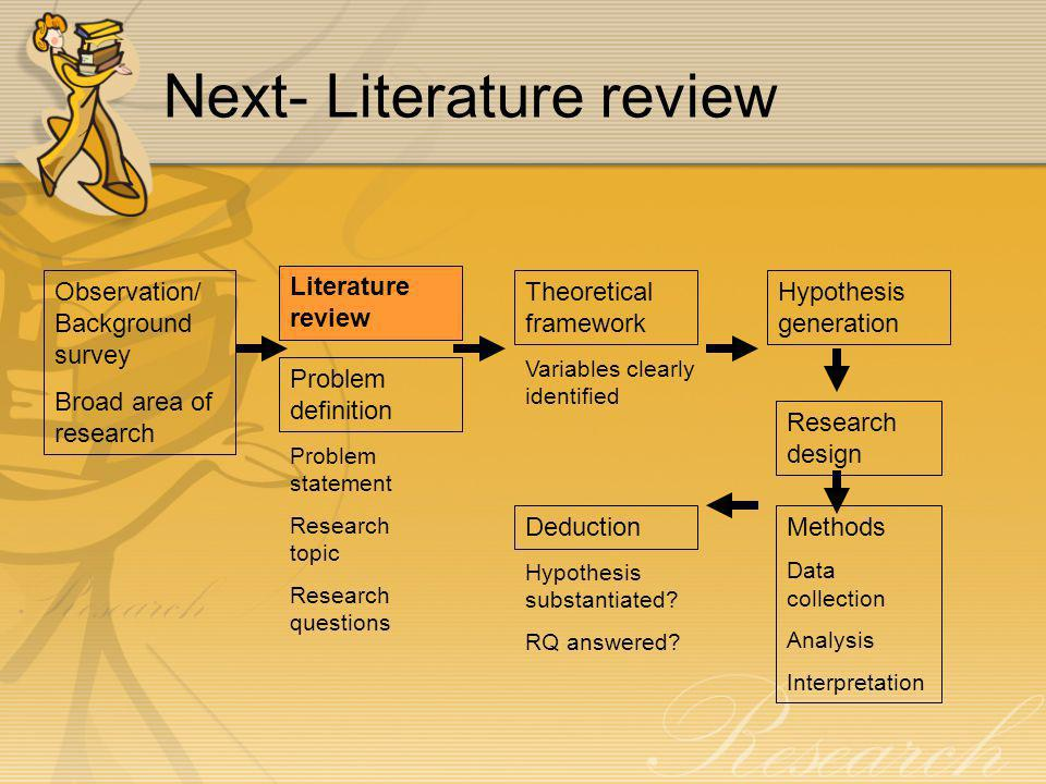 Doing a literature review — University of Leicester