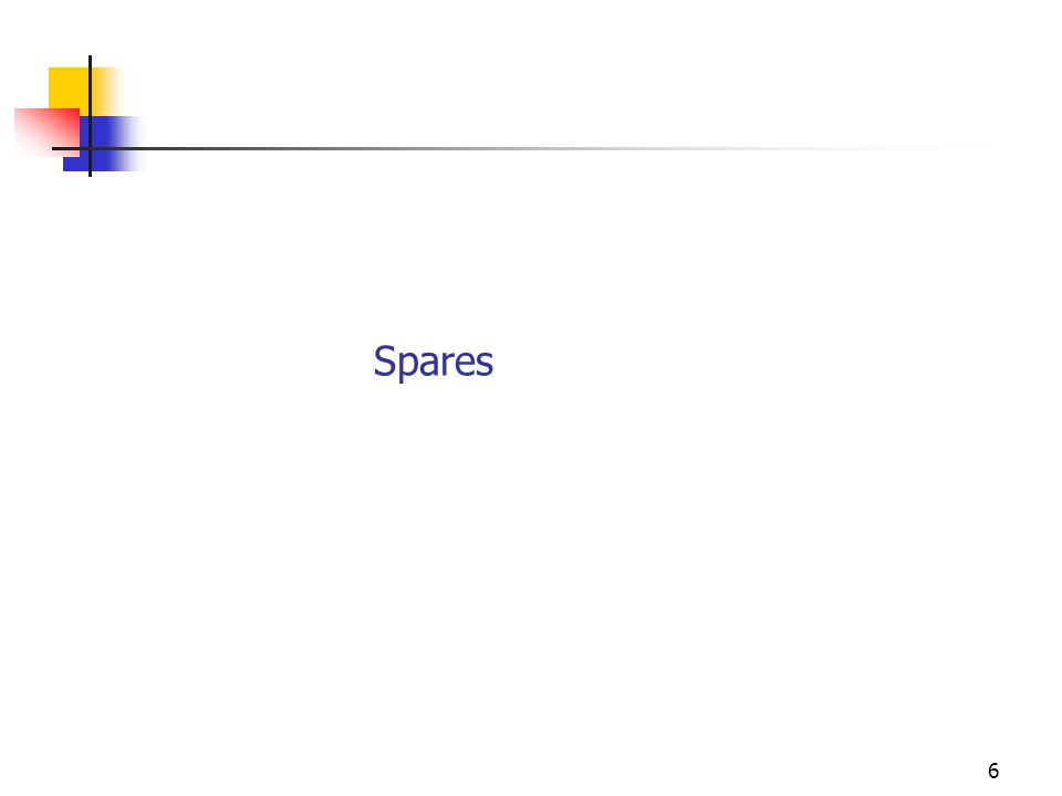 6 Spares