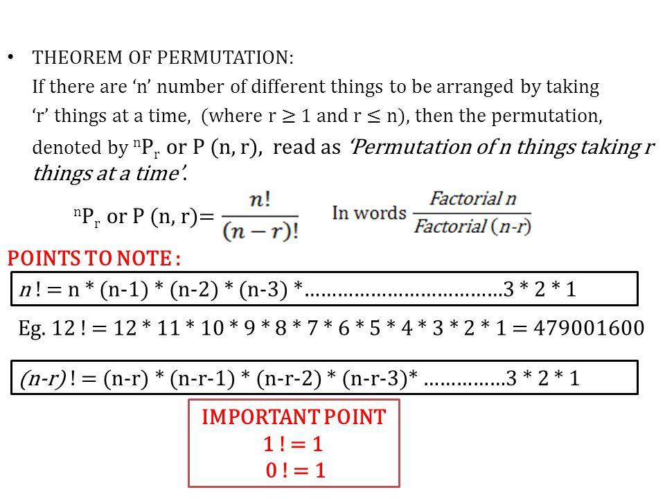 Eg.5) A question paper has two parts, Part A & Part B each containing 10 questions.