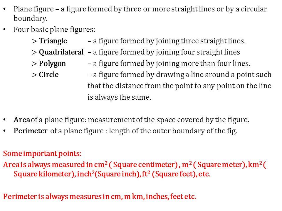 """Presentation """"Quantitative Methods Area & Perimeter of Plane ..."""