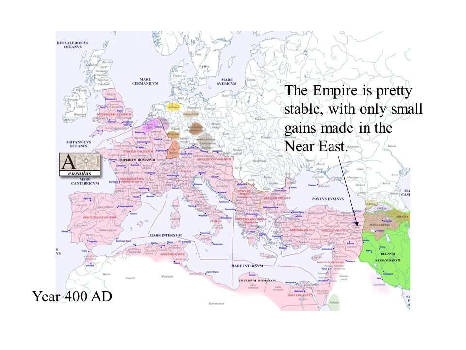 The Empire is pretty stable, with only small gains made in the Near East.