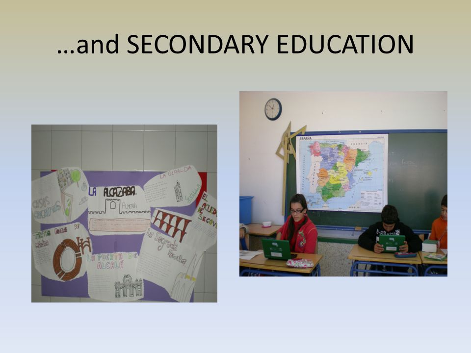 …and SECONDARY EDUCATION