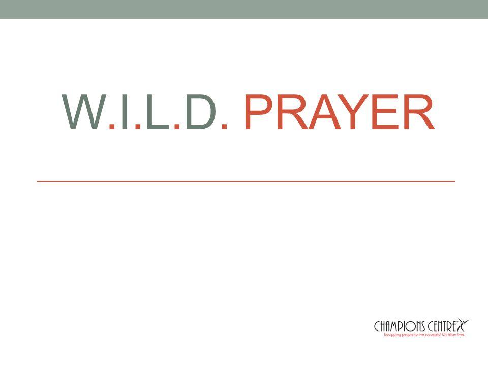 W.I.L.D. PRAYER