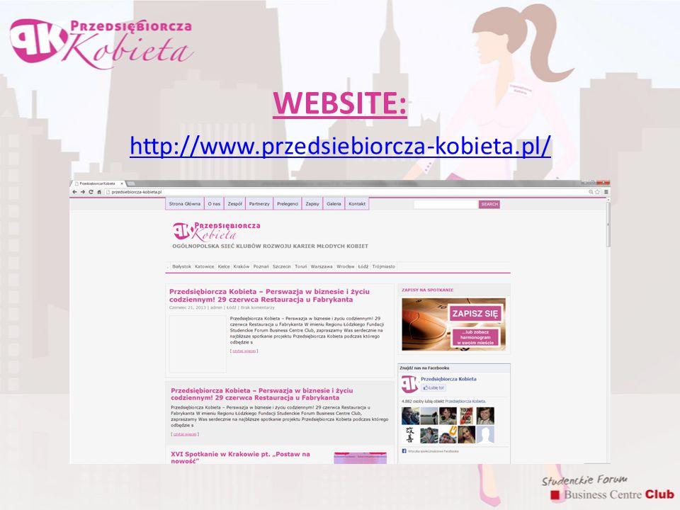 WEBSITE: http://www.przedsiebiorcza-kobieta.pl/