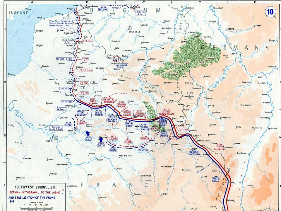 The Western Front  Eastern France  Front's position fluctuated little from 1914- 1917  Characterized by Trench Warfare  Bloody- massive amount of deaths