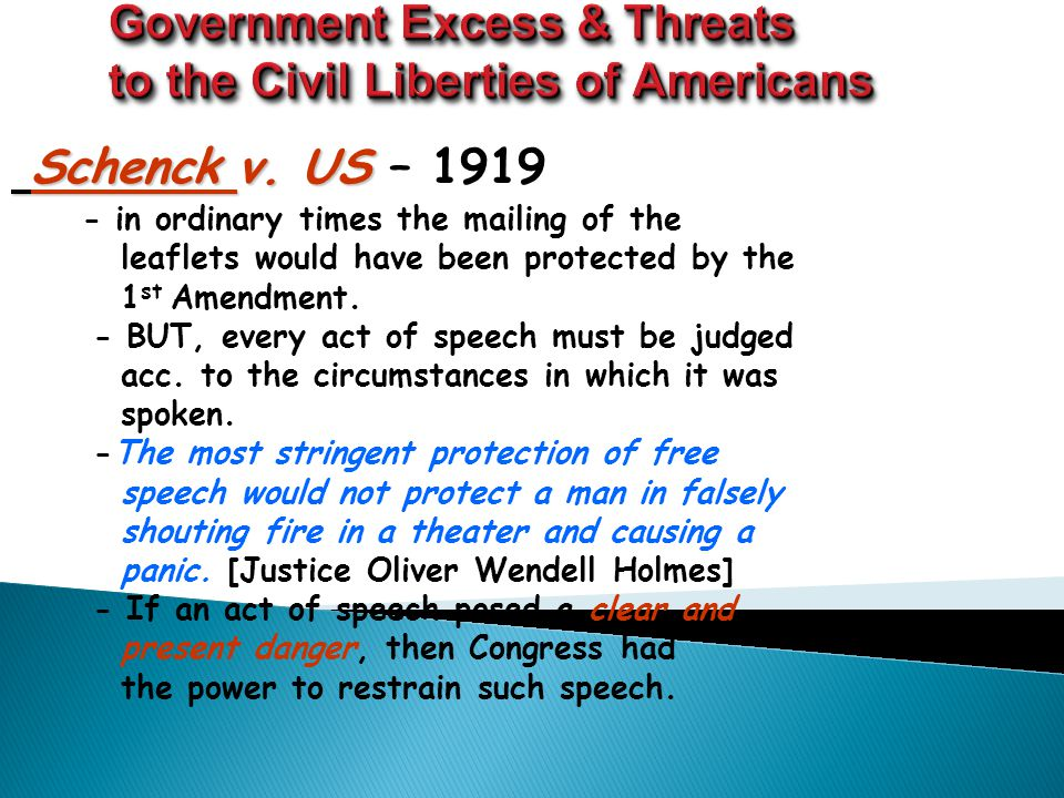 Propaganda Against Germans  Americans were encouraged by the government to reject anything German  Boycotts on German beer and music; names of foods changed- sauerkraut to liberty cabbage ; hamburgers to liberty sausage  German-Americans discriminated against  Espionage Act of 1917 and the Sedition Acts of 1918- restricted the lives and movement of German- Americans