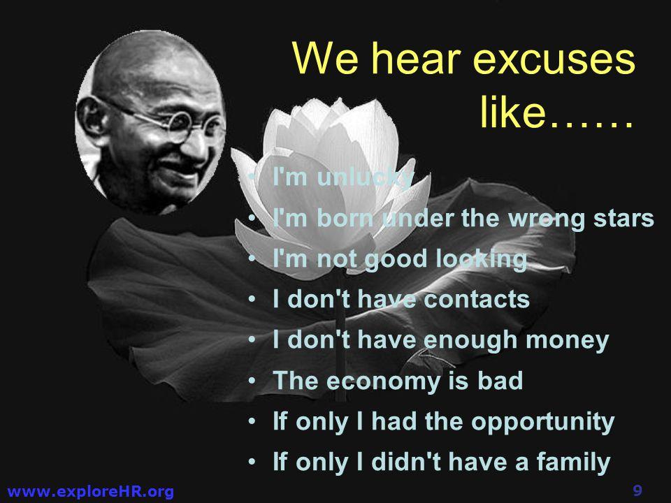 19 www.exploreHR.org rather than make them happen.