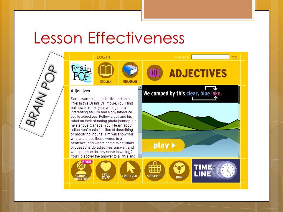 Lesson Effectiveness CLICKER QUIZ