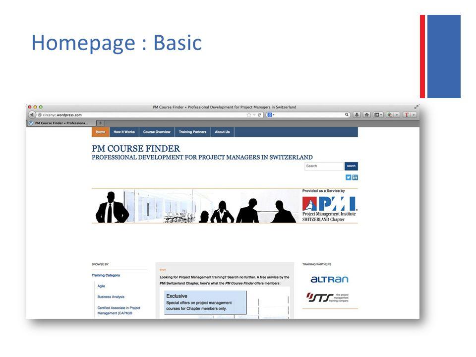 Homepage : Basic
